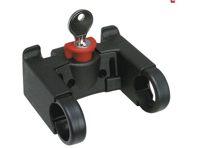 KlickFix Styradapter Med lås, black